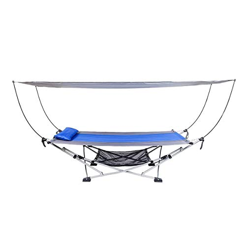 MacSports Portable Fold Up Hammock with Removable Canopy & Carry Case