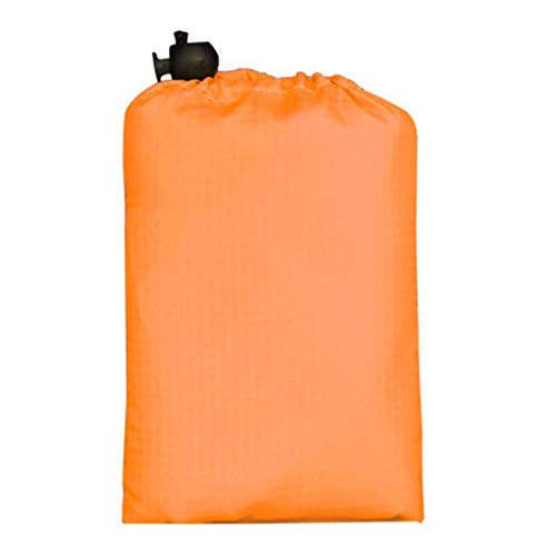 ZRR tragbare Picknickdecke, 110 x 70 cm, einfarbig, wasserdicht, Orange, 110x70cm
