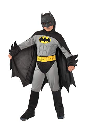 Ciao -Batman Classic Kinderkostüm Original DC Comics (Größe 5-7 Jahre) mit gepolsterten Brustmuskeln, Farbe grau/schwarz, 11701.5-7
