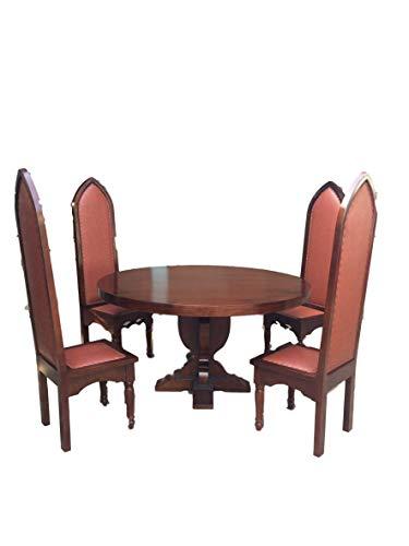 Rittertafelrunde Tafelrunde Ritterstuhl bestehend aus 8 Ritterstühle 1 Tisch rund150cm Essgruppe Essgarnitur Esszimmergarnitur