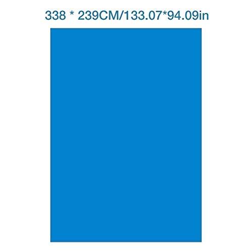 338x239CM Schwimmbecken Matte- Pool-Grundtuch Bodenmatte Schwimmbadmatte Rechteckiger faltbarer Teppichboden aus Polyester quadratische Boden-Poolmatte, geeignet für Verschiedene aufblasbare Pools