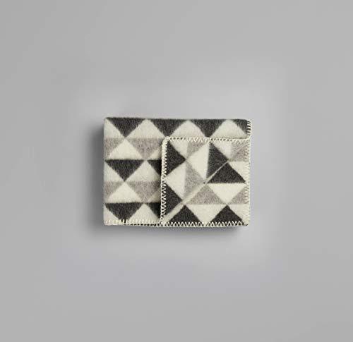 RØROS TWEED Tivoli Baby wollen deken | Knuffeldeken uit Noorse lamswol | Design van Anderssen & Voll | Afmetingen plafond: 100x67cm 1105-B grijs