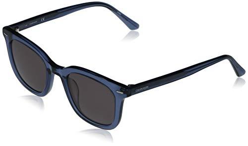 Calvin Klein CK20538S Gafas de Sol, Crystal Blue/Solid Smoke, Talla única Unisex Adulto