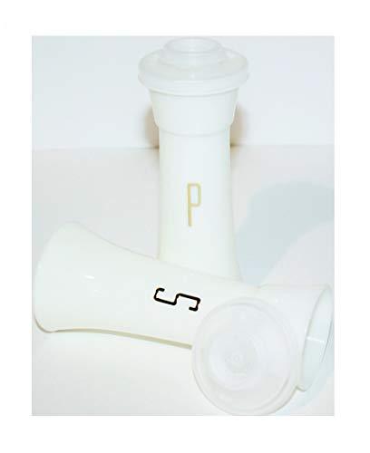 Vintage Tupperware Hourglass 4 1/2 Inch Salt & Pepper Shaker Set