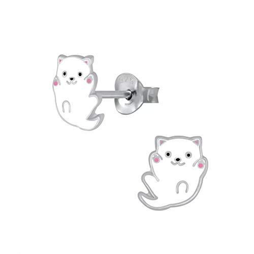 Laimons - Pendientes para niña de plata de ley 925 de 8 mm