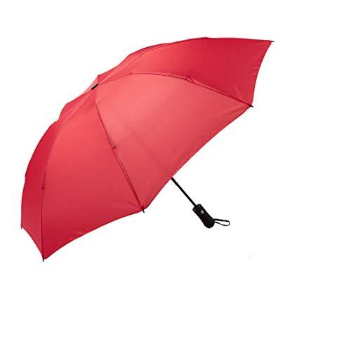 NOOFORMER Mini Paraguas de Viaje para Sol y Lluvia (8 Ruedas) – Ligero Compacto y 95% Anti-UV, C3-Red(8 Rids)