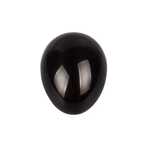 SUPVOX esfera de obsidiana negra huevo piedra preciosa pulida piedra para terapia meditación equilibrio decoración (40x25x25mm)