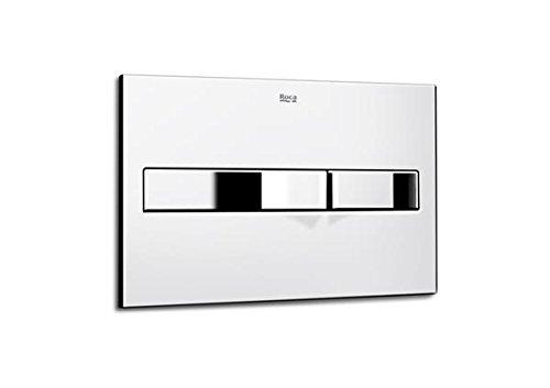 Roca In-Wall A890096001 - Placa accionamiento PL2 Dual, cromo brillo