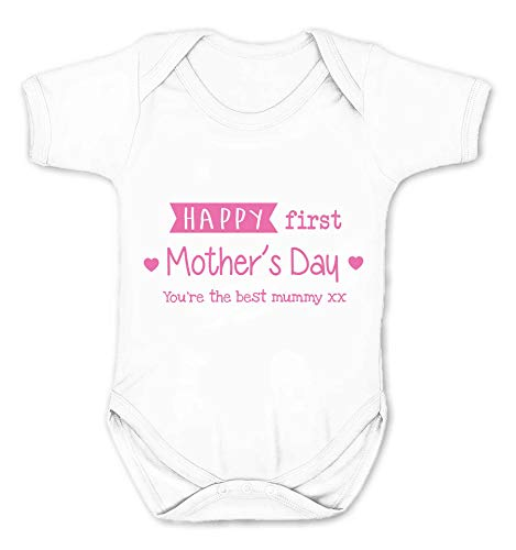 Reality Glitch Happy First Mthers Day Body pour bébé - Blanc - Large