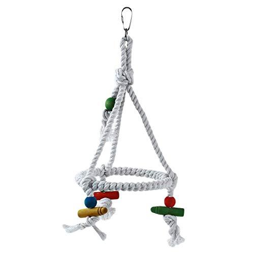 Carry stone Premium-Qualität Haustier Vogel Papagei Schaukel hängen Spielzeug Sittich Nymphensittich Käfig Hängematte Schaukel hängen Spielzeug