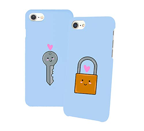 Love Couple Key_011345 Iphone Phone Hard PC Case Cover For Couples Best Friends In Relationship Present BFF Bae For Iphone 6 6s 7 7plus 8 X Case Cover 3D Print