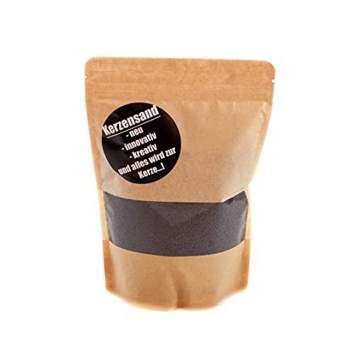 CHICCIE Sabbia per candele, 400 g, con 2 stoppini da 20 cm, granulato di cera