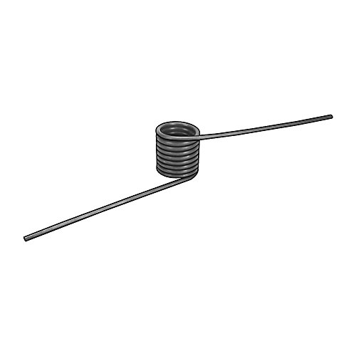 Torsion Spring, 180 Deg, 0.450OD, PK6
