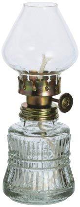 Petroleum lámpara de estilo antiguo para aceite de parafina de cristal transparente...