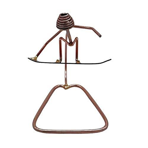 Snowboard Handgrab Collectible Handmade Metal Art Figurine, Desk Accessories, Trophy, Boss Gift, Office Décor, Outdoor Sports , Snowboarding