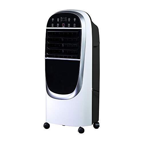 OZEANOS Eisblower OT-EC-1200 mobiler Verdunstungskühler ohne Abluftschlauch bis 72m³, 220-240V, 50Hz, 70dB, 40-130W schwarz weiß