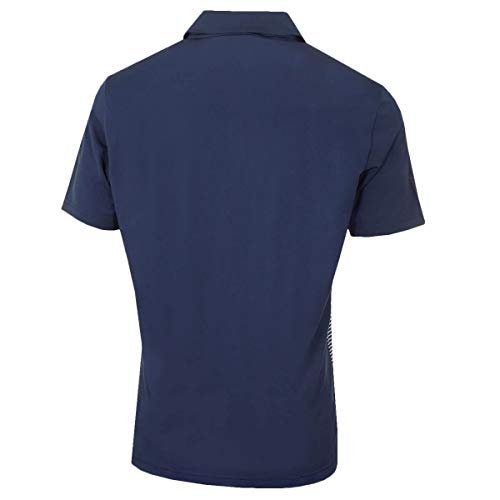 adidas Golf Mens Ultimate Color Block Polo Shirt - Navy/Grey - XL