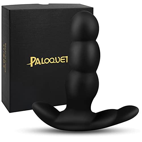 Rotierender Analplug Vibrator mit 7x7 360 ° -Rotation Vibrationsmuster Dual Motor, PALOQUETH Wasserdichter Sex Massagegerät für Männer Frauen Paare, Wiederaufladbarer, Kabellose Fernbedienung