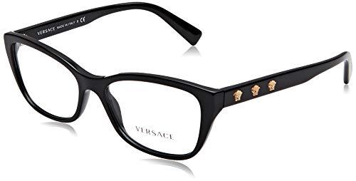 Versace Damen 0Ve3249 Brillengestell, schwarz, 54