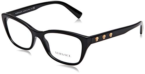 Versace Damen 0Ve3249 Brillengestell, schwarz, 54 EU