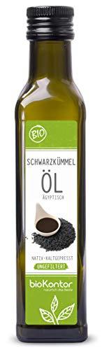 Schwarzkümmelöl ägyptisch 250 ml BIO UNGEFILTERT I nativ und kaltgepresst von bioKontor