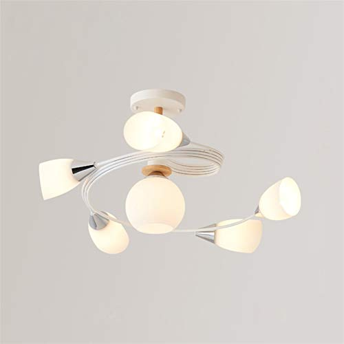 W.Z.H.H.H Lámpara Colgante La luz Pendiente La Simplicidad originalidad Colgante de Cristal de la lámpara del Dormitorio Sala de Macaron Accesorios de iluminación Candelabro