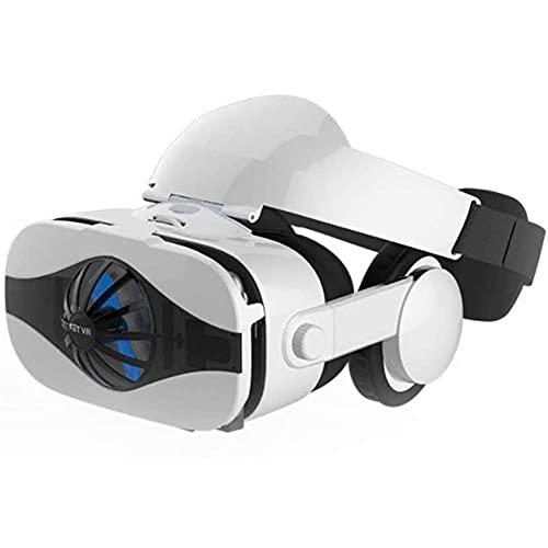 QCHEA Gafas 3D Realidad Virtual Auriculares, VR GRAMEAS Virtual Realidad Game RV Ojos 4D One Machine Montado en la máquina AR Ventilador de Casco Especial, Adecuado para Pantalla de 4.0-6.33 Pulgadas