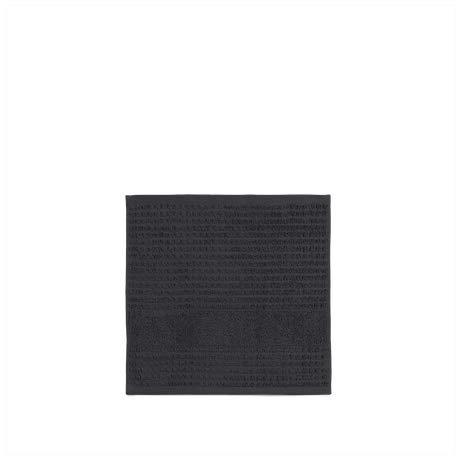 Juna, Check Face Cloth Dark Grey 30 x 30 cm, Toallas Gris Oscuro, Unisex para Adulto