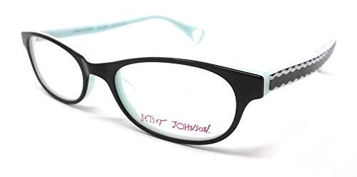 Betsey Johnson Women's Eyeglasses BOND STREET 02 Spanish Black and Aqua...