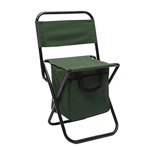 Lucky DuDu Camping al Aire Libre Camping Silla de Pesca Taburete Portátil Mochila Picnic Bag Herramienta de Campamento (Color : Verde)