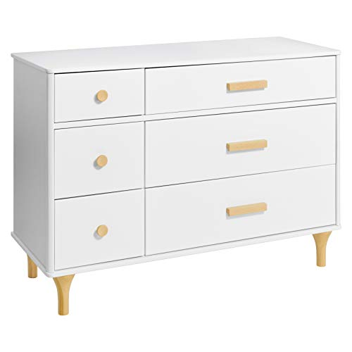 Babyletto Lolly 6 Drawer Assembled Double Dresser, White/Natural