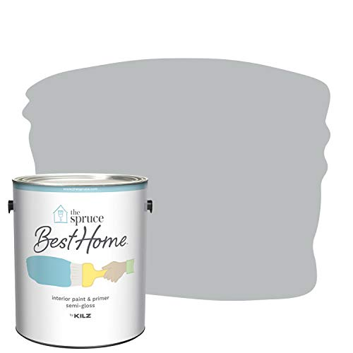 The Spruce Best Home by KILZ Interior Paint & Primer in One, Gravity Gray, Semi Gloss, 1 Gallon