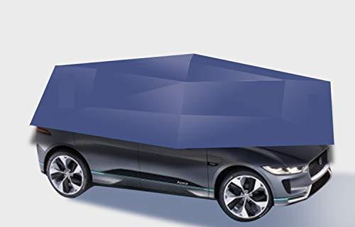 LLSS Autozelt Halbautomatischer heißer Sommer-Autoschirm, über tragbarer beweglicher Carport, zusammengeklappter Sonnenschutz für das Auto, Anti-UV-Baldachin, beweglicher Carport-Baldac