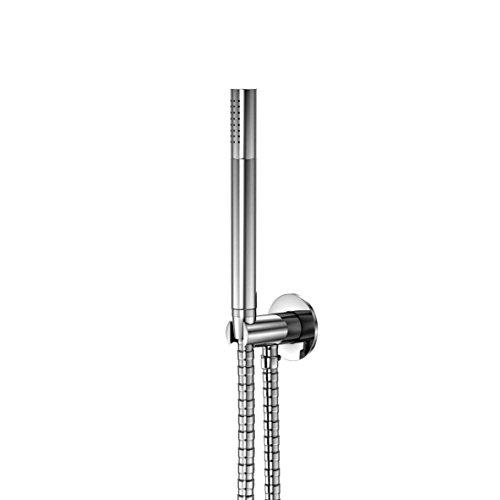 Steinberg 100 1670 Moderne Brause-Garnitur, Handbrausegarnitur mit integriertem Wandanschlussbogen und mit 3-fach verstellbarer Handbrause, Chrom