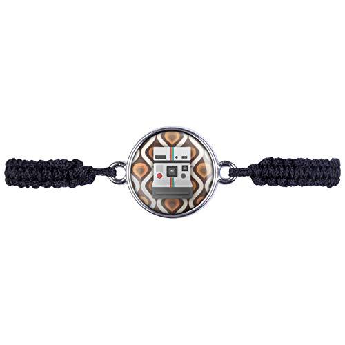 Mylery Armband mit Motiv Sofortbild-Kamera Retro Vintage 70s 80s Silber 16mm