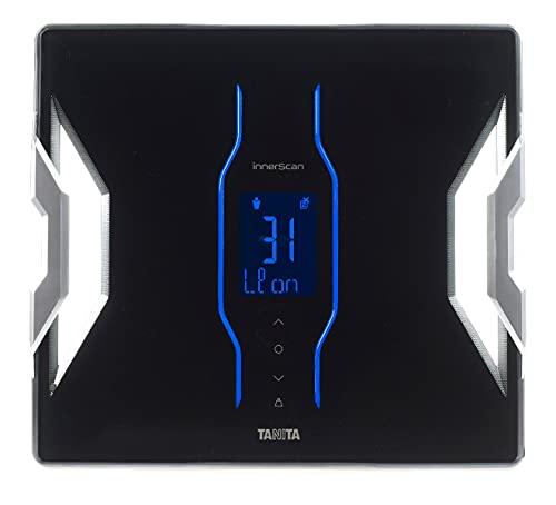 TANITA RD-953 Schwarz Körperanalyse-Waage, Bluetooth, medizinischer Technologie, 11 Messwerte