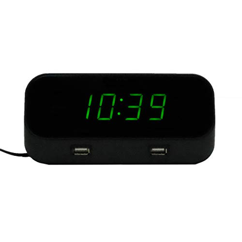 New 4K Hidden WiFi Camera Alarm Clock with NO Lens Hole - Includes 128GB MicroSD