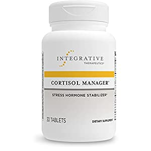 Integrative Therapeutics Cortisol Manager Supplement - Reduces Stress to Support Sleep* - Ashwagandha, L-Theanine - Support Adrenal Health* - 30 Count