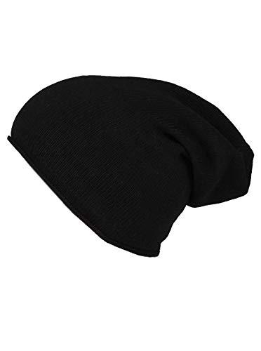 Zwillingsherz Slouch-Beanie-Mütze aus 100% Kaschmir - Hochwertige Strickmütze für Damen Mädchen Jungen - Hat - Unisex - One Size - warm und weich im Sommer Herbst und Winter - SWR