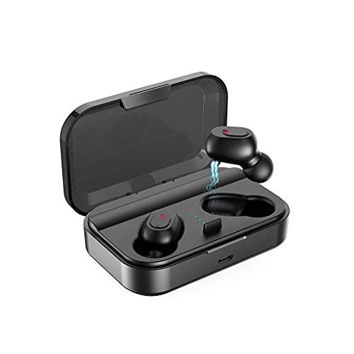RCH Auriculares Bluetooth Llamada Binaural Verdadero Auriculares Inalámbricos 20H Tiempo de reproducción HD Estéreo Bajo Sonido Mini en la Oreja Auriculares Bluetooth con Micrófono incorporado