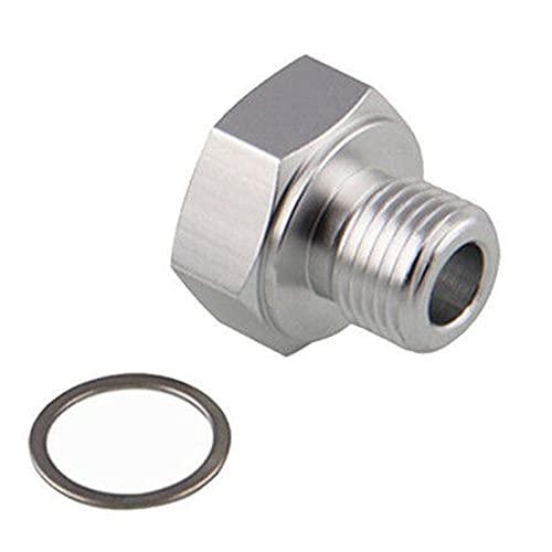 MAYINGXUE Adaptador de Sensor de presión de Aceite RA LS Motor Swap MAYS M16x1.5 a Mujer 1/8 NPT para GM LS Series Motor (Color : Silver)