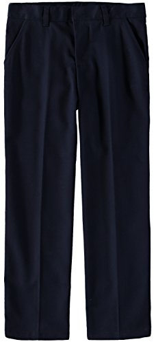 French Toast Boys' Adjustable Flat Front Double Knee Pant (Navy, 12S)