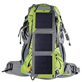 XTPower Xplorer Globetrotter 42 | Ultra Durable Hiking Solar Backpack Lime Green with Removable 10 Watt Panel | Charges USB devices including Smartphones, Tablets, GPS, and more up to 5V