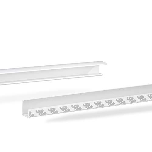 Lichtblick RKV.150.01 Seitenschiene für Rollo, selbstklebend, Länge 150 cm, kürzbar 150 cm
