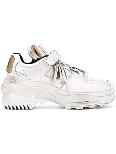 Maison Margiela Luxury Fashion Damen S39WS0037P2082H1609 Weiss Leder Sneakers   Frühling Sommer 20