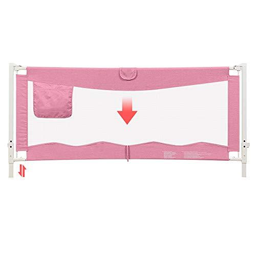 Barrières de lit LHA Lit Bébé Incassable, Bouclier Levage Vertical Enfants Lit Rails Latéraux Grand Lit Universel 1.5m 1.8m 2m (Couleur : Pink, Taille : L-150cm)