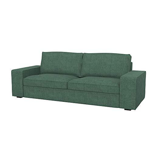 Soferia Bezug fur IKEA KIVIK 3er-Sofa, Stoff Softi Green
