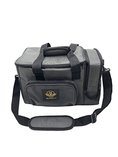 Wildebeest Large Lunch Box Insulated Leakproof Cooler Bag Reusable Lunch Bag for Adult/Kids, Grey