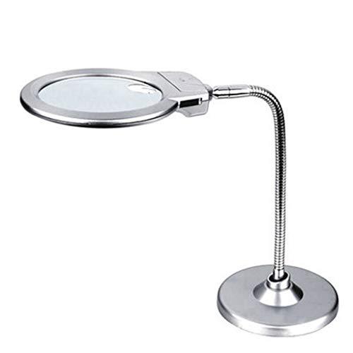 Zakvergrootglas met 2 LED-lampjes 2 x vergrootglas met spiegelend hulpvergrootglas 5 x Super High Clarity licht (zonder batterij) voor het lezen, sieraden, reparatie