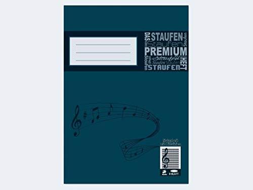 Bacher 17515 - Musikus Notenheft A4, 12 Notensysteme